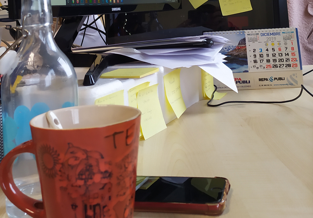 Desorden en la oficina